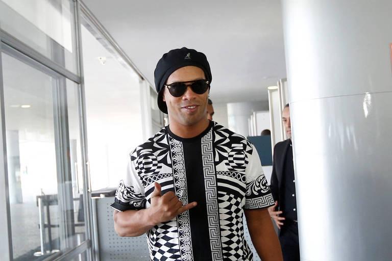 Ronaldinho Gaúcho durante evento no Palácio do Planalto, em junho