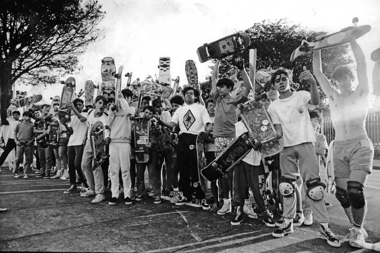 Protesto de skatistas contra Jânio Quadros