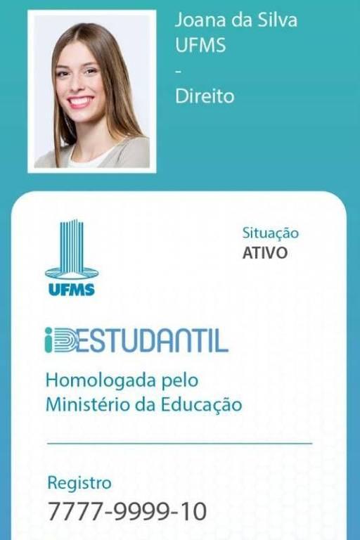 Carteirinha de estudante do governo Bolsonaro