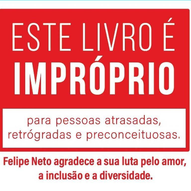 Aviso que virá na capa de livros com temática LGBT comprados por Felipe Neto