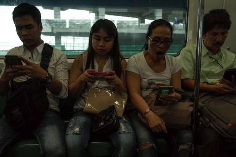 Nas Filipinas, a média foi de mais de quatro horas diárias nas redes sociais