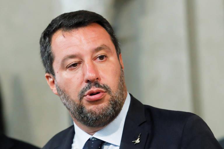 Matteo Salvini, que tem como uma das principais bandeiras a luta contra a migração
