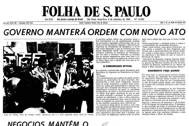 1969: Maluf afirma que o povo se uniu aos representantes das Forças Armadas