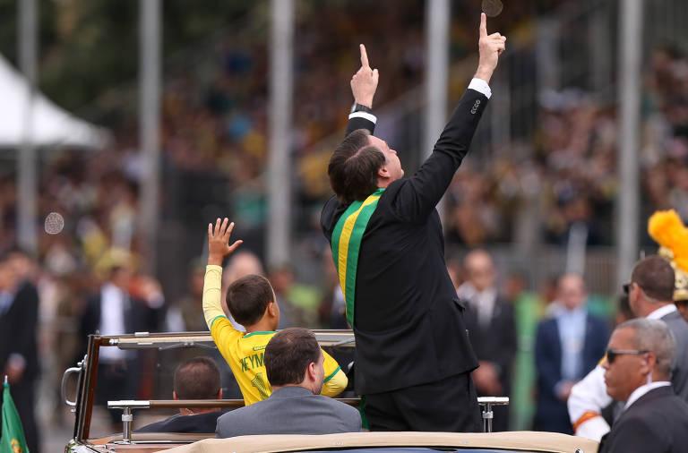 Presidente Jair Bolsonaro participa do desfile da Independência
