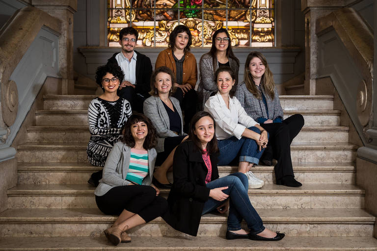 Pesquisado-ras e pesquisador que estudaram participação das mulheres em aulas na Faculdade de Direito da USP