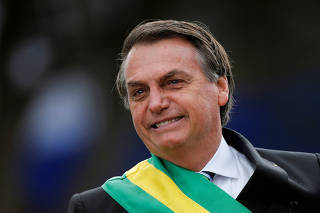 FILE PHOTO: Brazil's President Jair Bolsonaro looks on during a parade celebrating the country's Independence Day in Brasilia