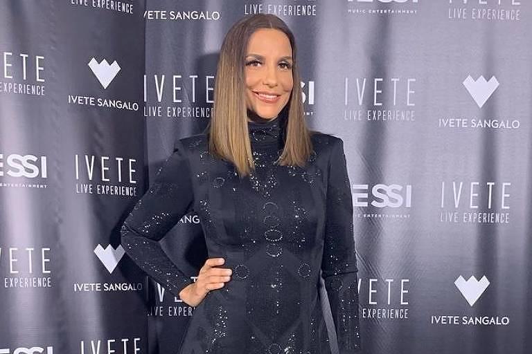 Ivete Sangalo usa vestido curto preto na apresentação do Rock in Rio Lisboa