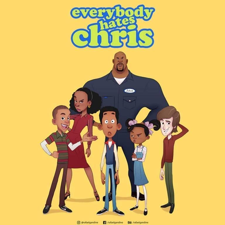 'Todo Mundo Odeia o Chris' pode virar desenho animado após brasileiro criar arte