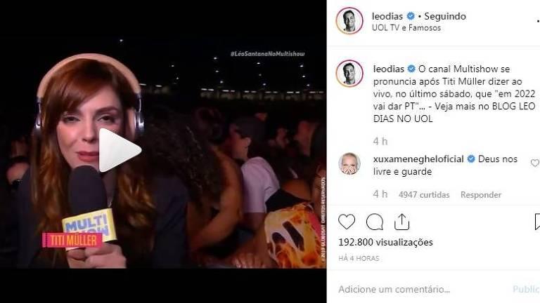 Xuxa causa polêmica ao colocar opinião política em rede social