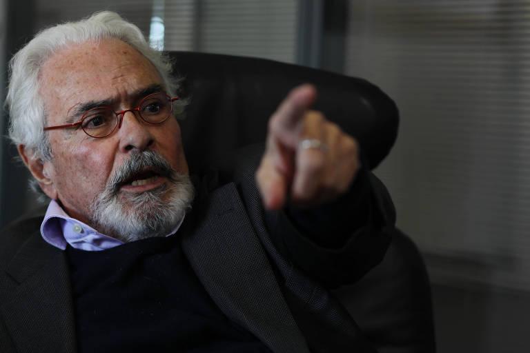 O ex-ministro da Justiça José Carlos Dias durante entrevista em seu escritório, em São Paulo