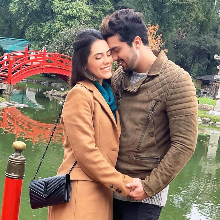 O casal Luan Santana e Jade Guimarães