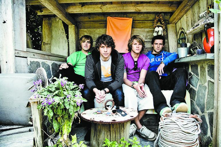 Os músicos da banda McFly em 2011