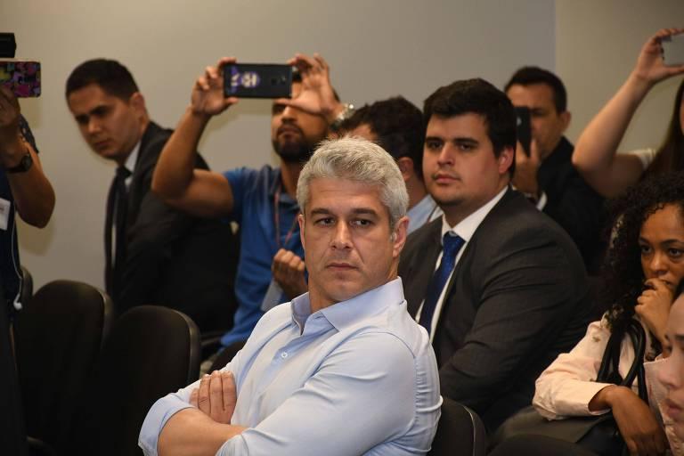 O empresário Gustavo Correa durante o julgamento no TJ-MG