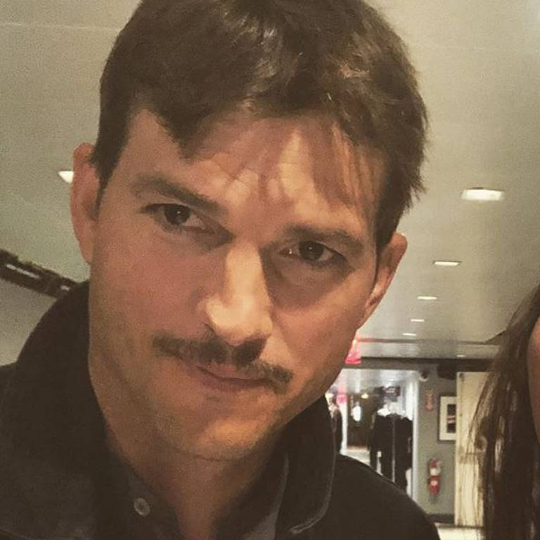 Ashton Kutcher adota novo visual