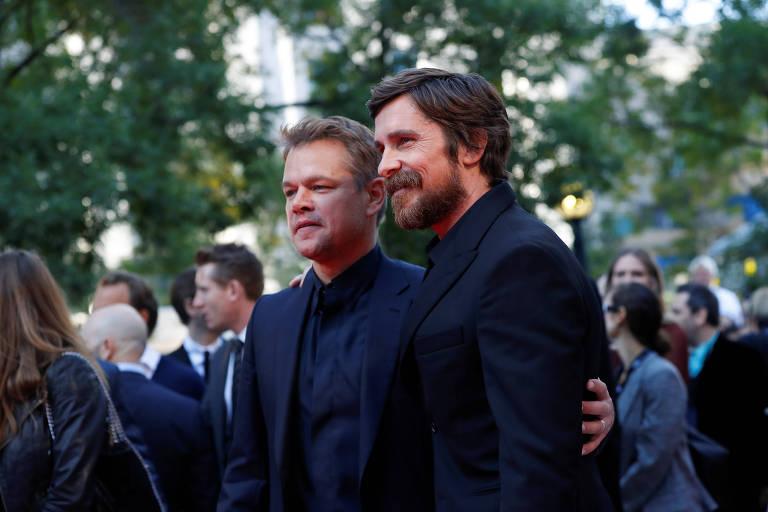 """Matt Damon e Christian Bale na pré-estreia do filme """"Ford X Ferrari"""", no Festival de Toronto"""