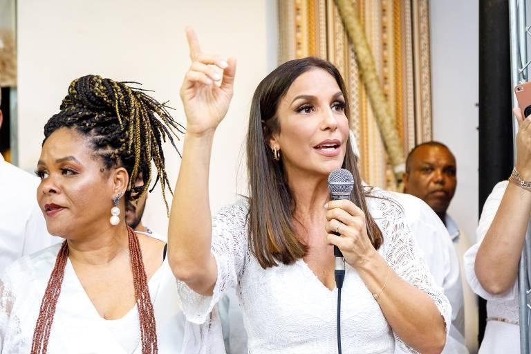 Veja imagens do lançamento do álbum 'Obatalá' de Ivete Sangalo, Gilberto Gil e Daniela Mercury