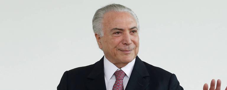 Michel Temer no Palácio da Alvorada, em Brasília, em 2018;