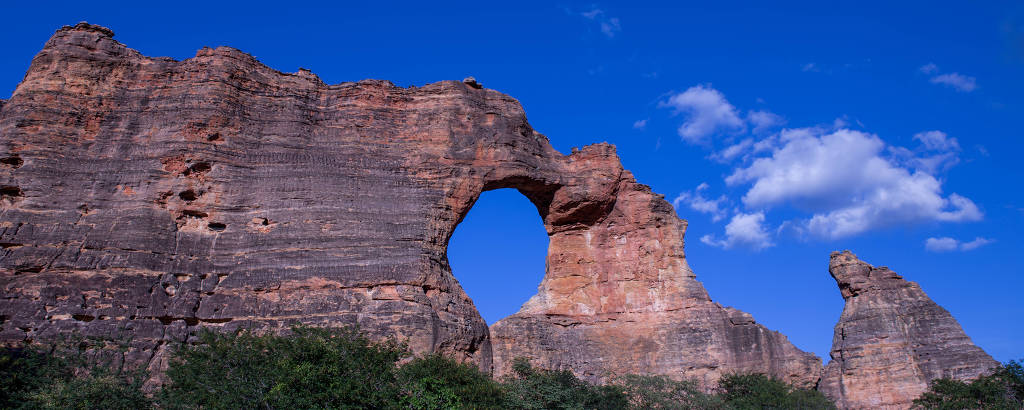 Pedra Furada, no Parque Nacional da Serra da Capivara, no Piauí