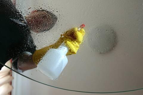 ORG XMIT: 522101_1.tif 16.02.2005 - Construcao - Foto:Ayrton Vignola/Folhapress - PAUTA: Pessoas que contratam empresas especializadas em limpeza para fazer faxina e deixar tudo limpo em suas casas. Fotos de Fabiana Carnilli, 29, Auxiliar de Limpeza da Empresa especializada em Limpeza, Jani-King, limpando Apartamento. DIGITAL