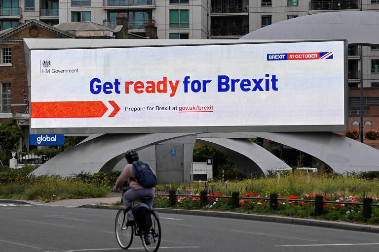 Anúncio do governo do Reino Unido faz parte de uma campanha para informar os britânicos sobre as consequências do brexit