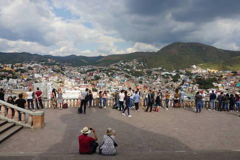 Mirante do  El Pípila, no centro da cidade de Guanajuato, no México