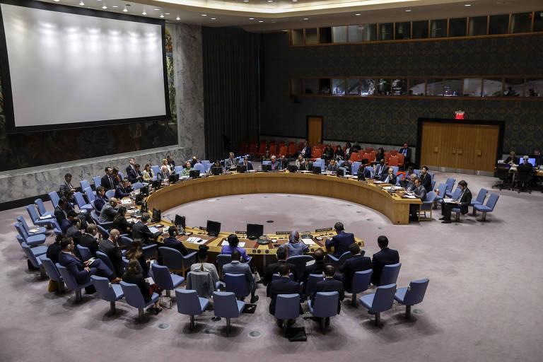 Reunião do Conselho de Segurança das Nações Unidas, em Nova York