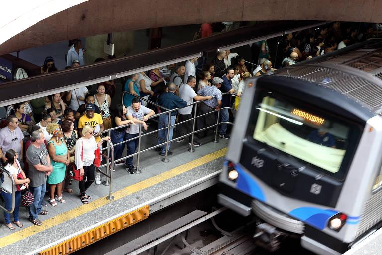 Linha 1-azul e 15-prata lideram falhas graves no metrô