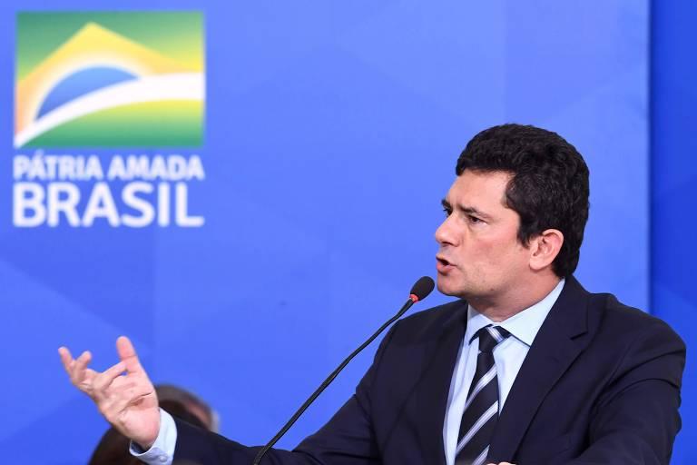 O ministro da Justiça, Sergio Moro, durante evento em Brasília