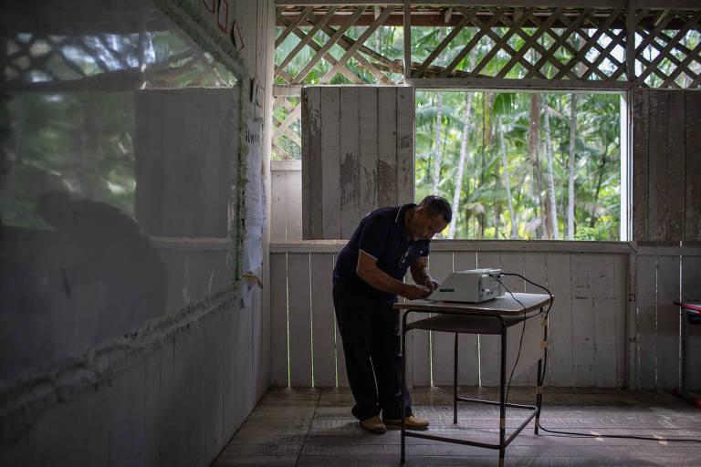 Votação em Ilha Grande, em Belém, no Pará