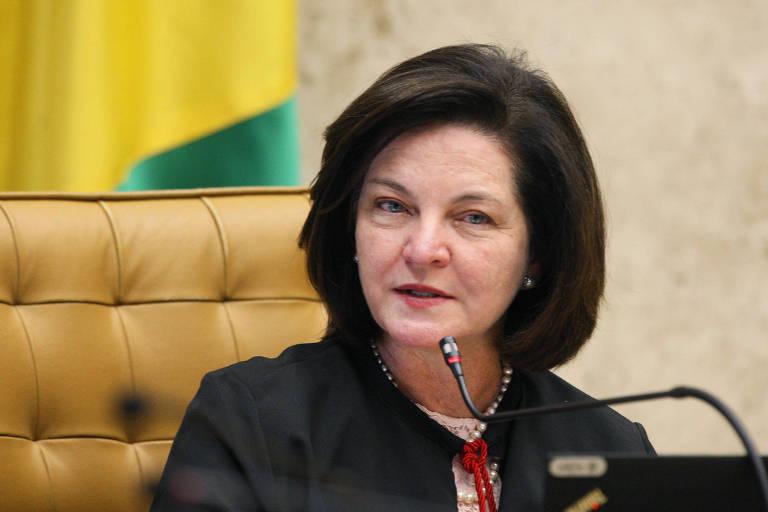 Raquel Dodge em sua última sessão do STF como procuradora-geral da República