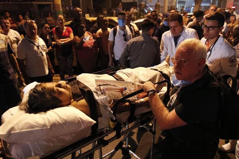 Incêndio no hospital Badim, no Rio
