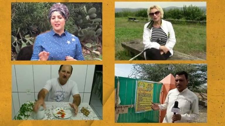 Vídeos prometendo curas - com tratamentos à base de leite de burra e bicabornato de sódio, por exemplo - encontrados pela BBC eram apresentados em árabe, russo, hindi e português