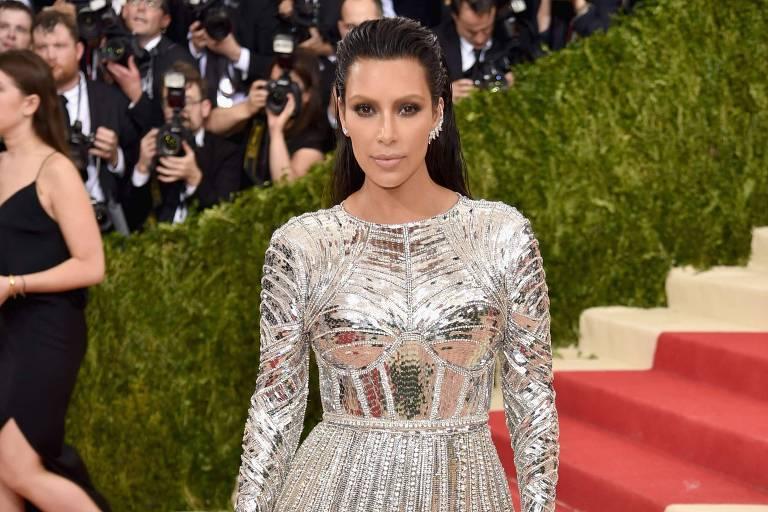 Kim Kardashian no Met Gala, em 2016