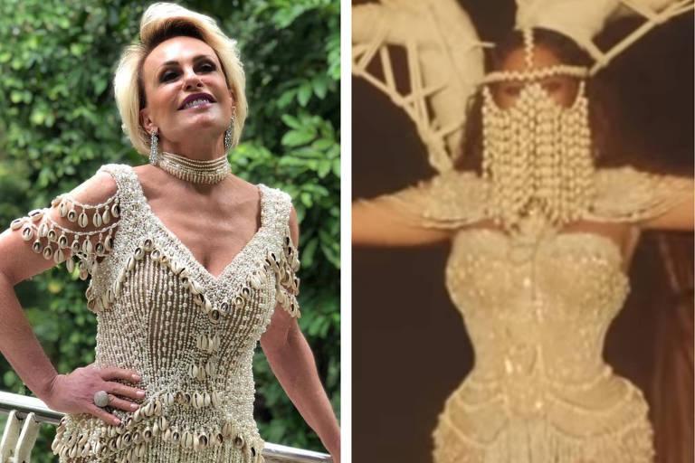 """Ana Maria Braga usa réplica de vestido usado por Beyoncé em clipe de """"Spirit"""""""