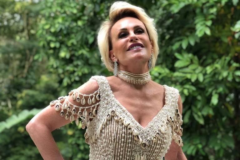 Ana Maria Braga usa réplica de vestido usado por Beyoncé