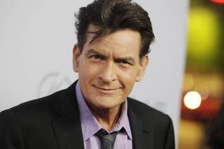 Cast member Sheen poses at the premiere of