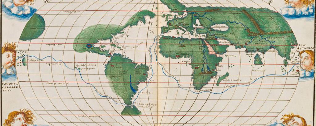 Atlas de 1544 faz referência à primeira expedição que deu a volta ao mundo