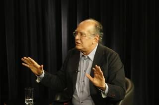 O ministro do STF Gilmar Mendes durante entrevista à Folha e ao UOL