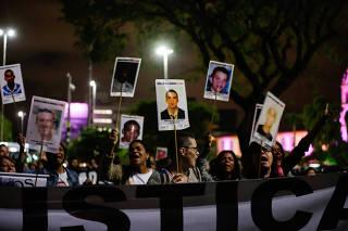 Ato em memória aos 24 anos do Massacre do Carandiru