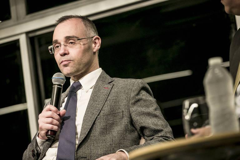 André Mendonça, advogado-geral da União, durante evento no auditório da Folha, em agosto