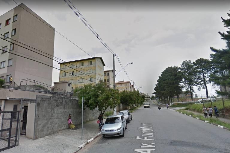 Avenida Fundibem, onde motorista foi assassinada em Diadema
