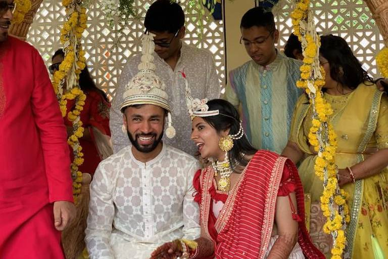 Foto de casamento na Índia