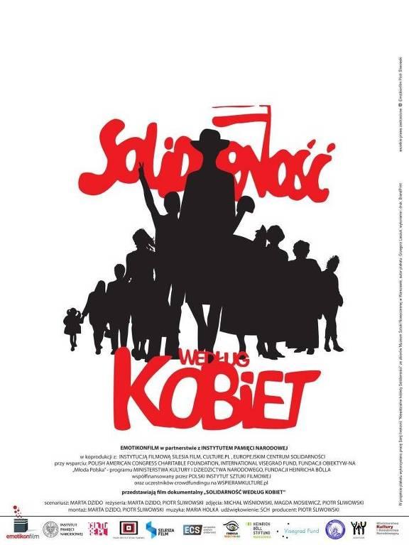 Cartaz do filme polonês 'A Solidariedade de acordo com as Mulheres'