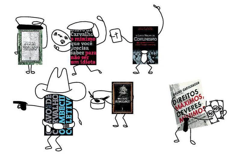Livros de não ficção viram palco de flá-flu ideológico entre esquerda e direita