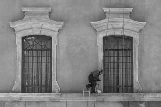 Reforma na fachada e salas da faculdade de Direito da USP