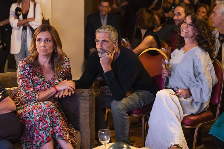 Lucélia Santos com atores portugueses