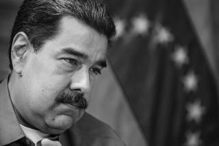 O ditador da Venezuela, Nicolás Maduro, durante entrevista à Folha