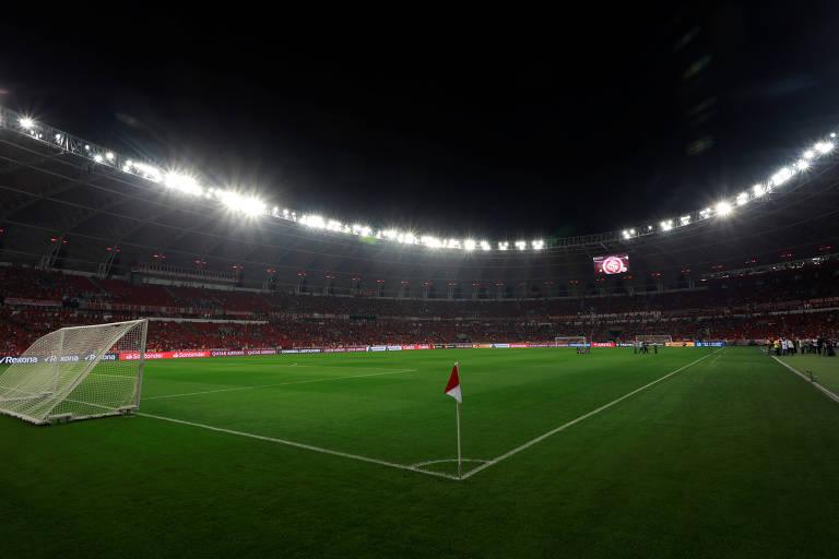 O estádio do Beira-Rio antes da partida de quartas de final da Copa Libertadores entre Internacional e Flamengo