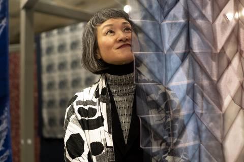 A designer japonesa Reiko Sudo, da marca Nuno, palavra que significa tecido, em japonês