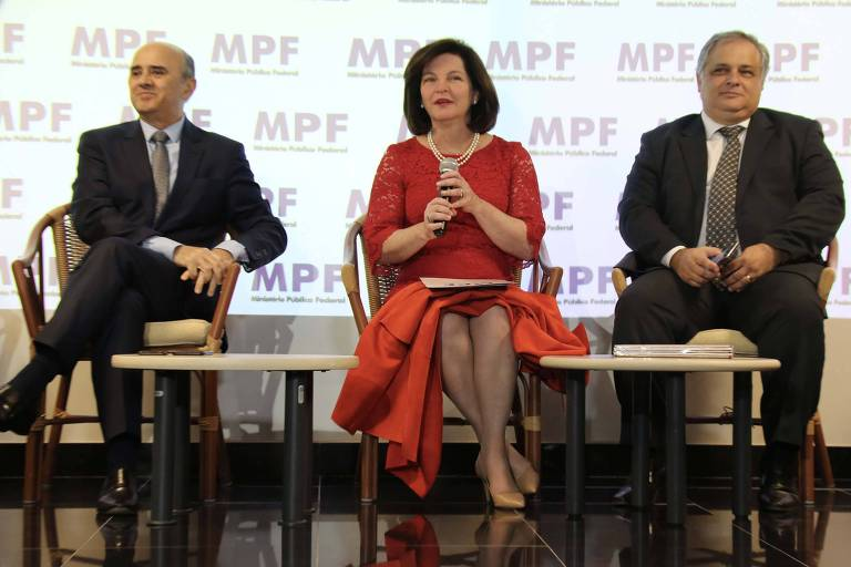 Da esq. para a dir. o subprocurador-geral Luciano Maia, a procuradora-geral, Raquel Dodge, e o vice-procurador-geral eleitoral, Humberto Jacques